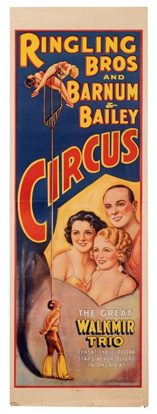 Ringling Bros. and Barnum & Bailey Circus. The Great Walkmir Trio.