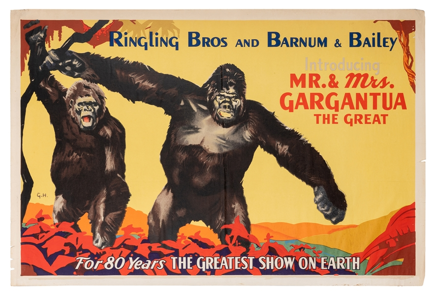 Ringling Bros. and Barnum & Bailey. Introducing Mr. and Mrs. Gargantua.