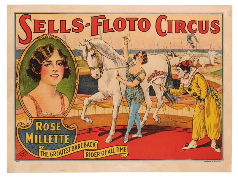 Sells-Floto Circus. Rose Millette.