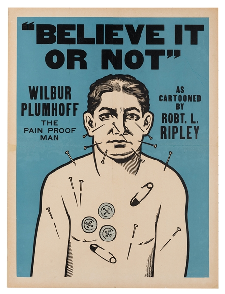 Wilber Plumhoff the Pain Proof Man / Believe It Or Not.