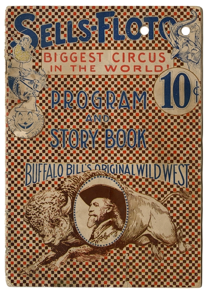 1914 and 1915 Buffalo Bill's Original Wild West. Sells-Floto Circus Program and Story Book.
