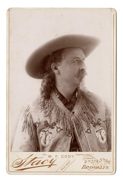 Buffalo Bill Cody Cabinet Card Photograph.