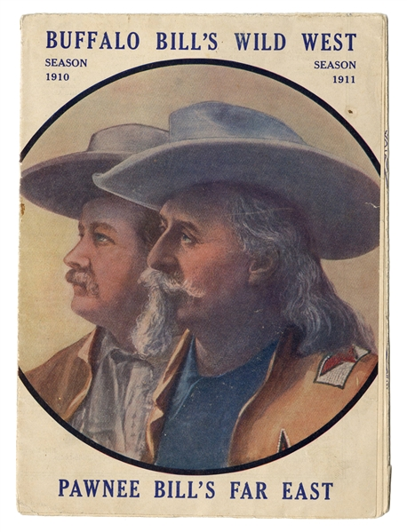 Buffalo Bill's Wild West and Pawnee Bill's Far East 1910/11 Route Pamphlet.
