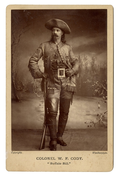 "Colonel W.F. Cody ""Buffalo Bill"" Cabinet Card Photograph."