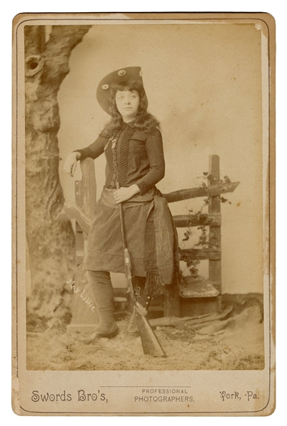 May Lillie Cabinet Card Photograph.