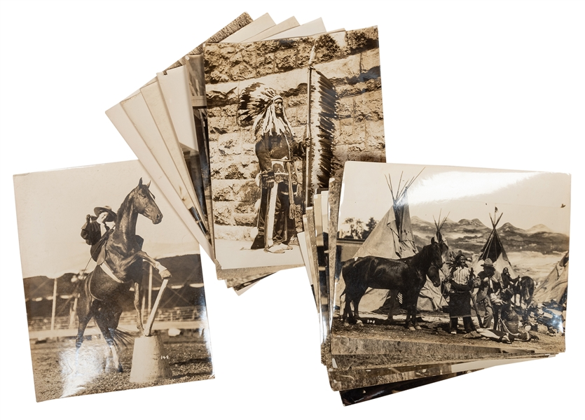 Lot of Fifteen Western Themed Circus Photographs.