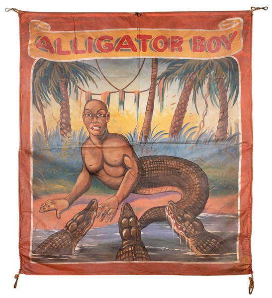 Alligator Boy. Sideshow Banner.