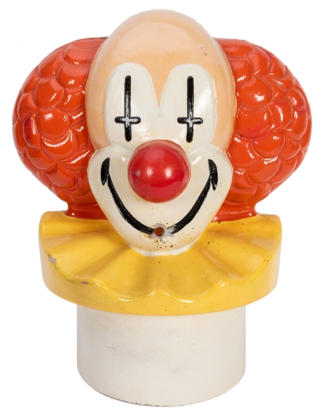 Clown Head Helium Tank Topper / Balloon Inflator.