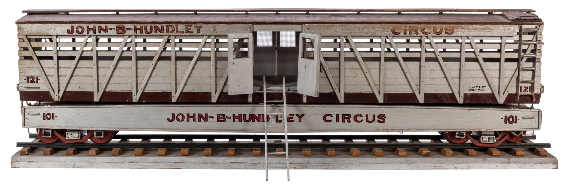 John B. Hundley Circus Animal Model Train Car.
