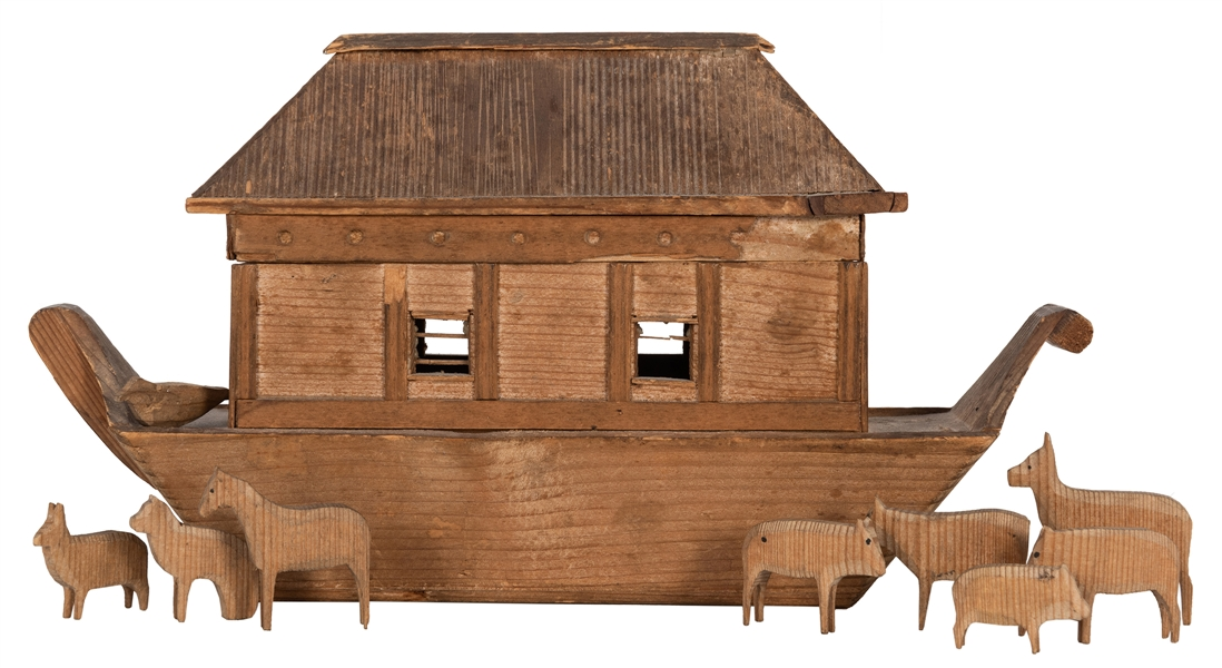 Hand Carved Noah's Ark.