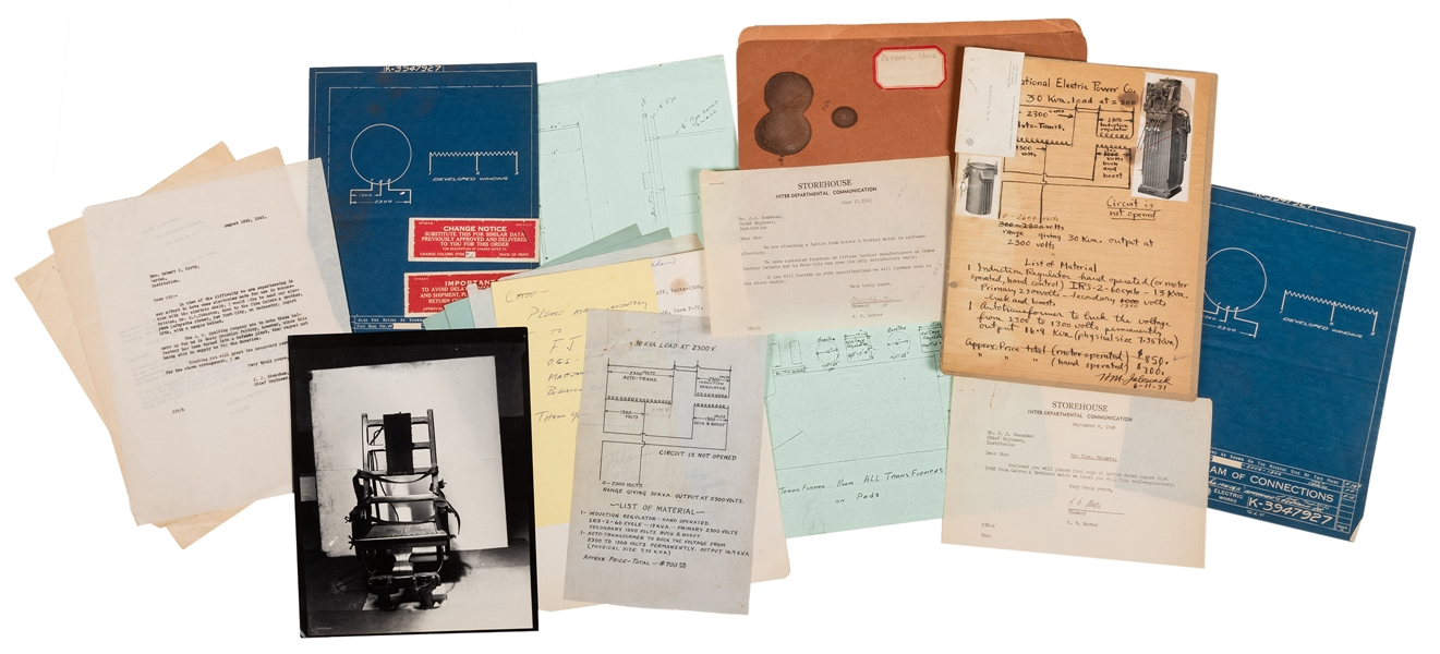 Papers and Photographs pertaining to Executions by Electric Chair at Sing Sing Prison.