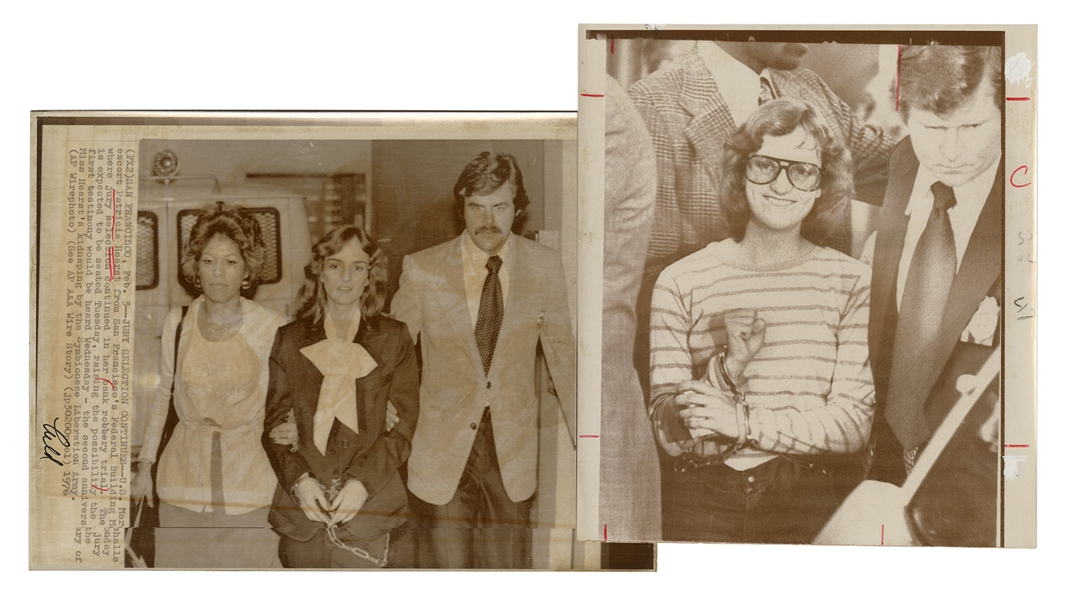 Patty Hearst Wire Press Photographs of Bank Robbery Trial.