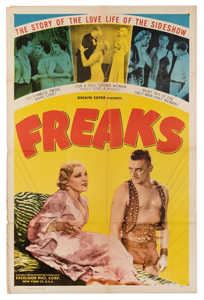 Freaks. Excelsior Picture Corp., R-1949.