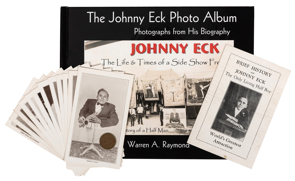 "Group of Johnny Eck ""Half Boy"" Ephemera."