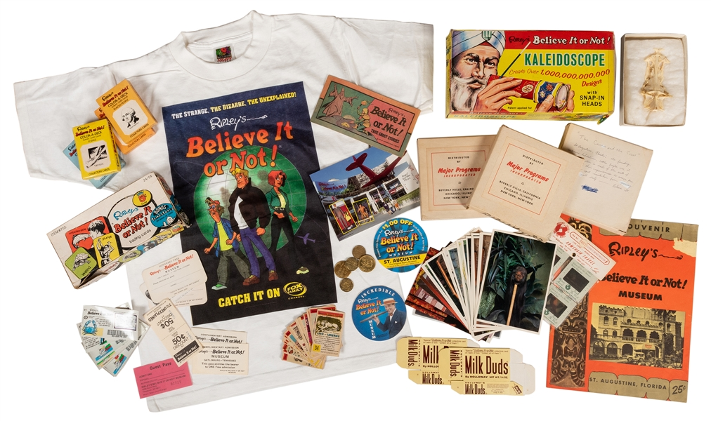 "Collection of Ripley's ""Believe it or Not"" Memorabilia."
