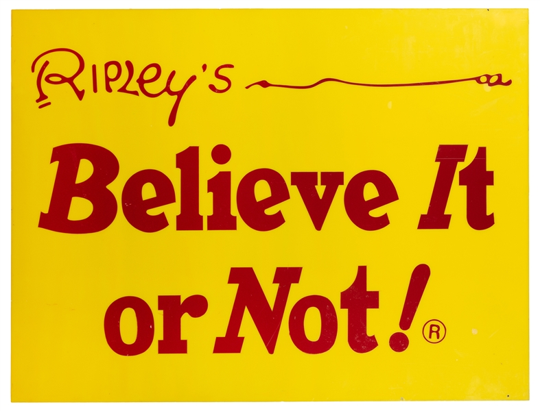 "Ripley's ""Believe It or Not"" Original Museum Advertising Panel."