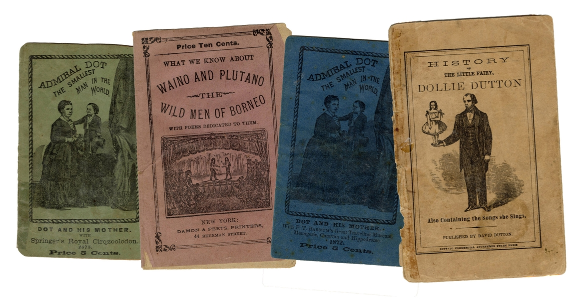 Four Sideshow Performer Pitch Books.