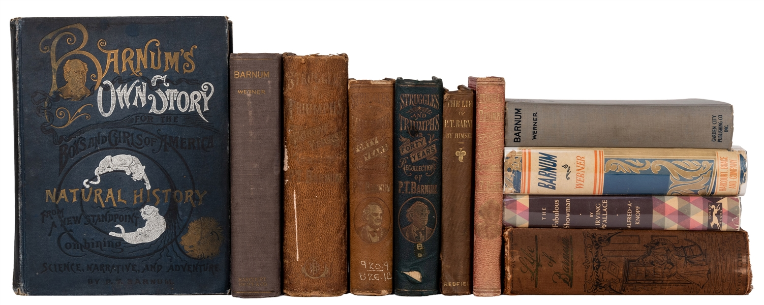 Collection of 11 Biographies of P.T. Barnum.