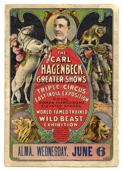 The Carl Hagenbeck Greater Shows Courier.