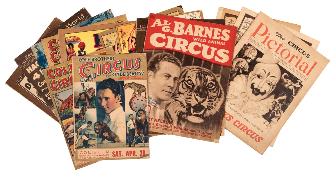 Fourteen Circus Couriers, 1920s—30s.