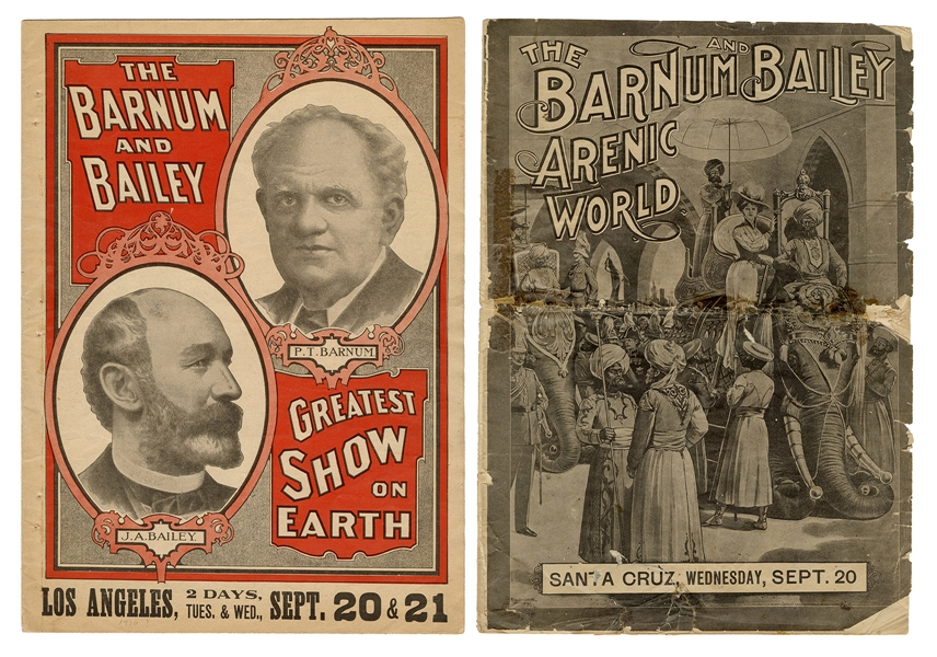 Pair of Barnum & Bailey Advance Couriers.