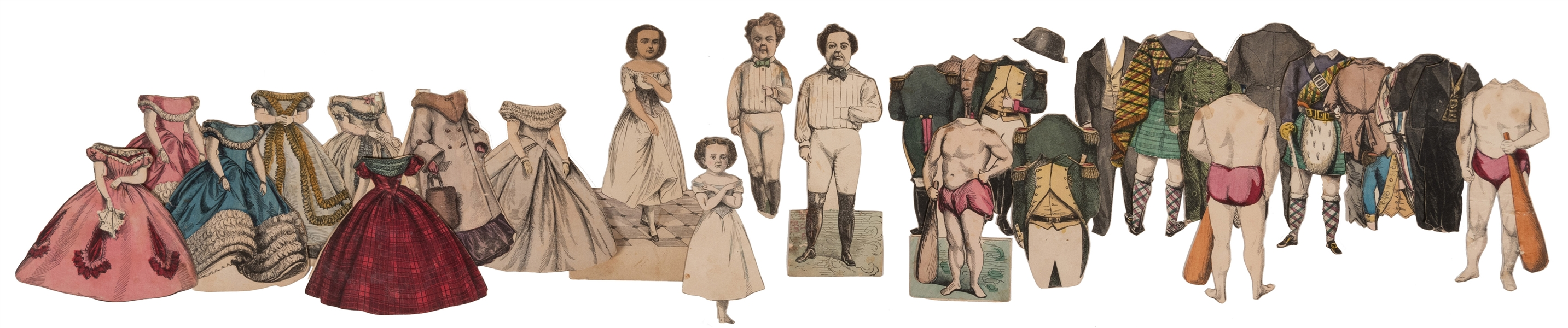 McLoughlin Bros. Paper Dolls of Mr. and Mrs. Tom Thumb.