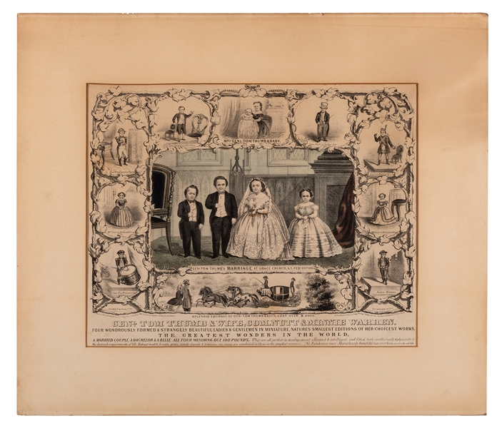 Genl. Tom Thumb's Marriage at Grace Church, N.Y. Feby. 10th, 1863.