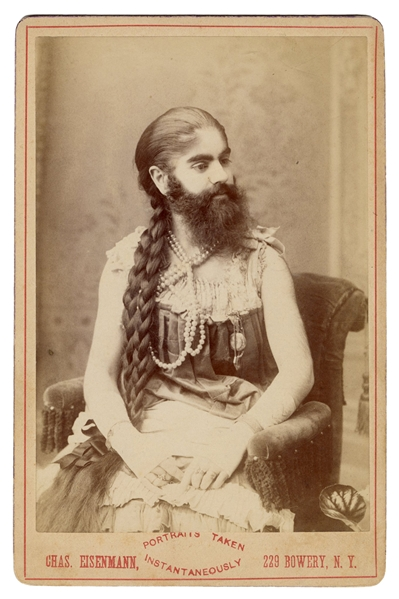 Cabinet Card Photograph of Annie Jones, Bearded Lady.