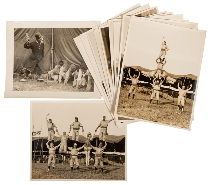 Group of Eleven Circus Performer Photographs.