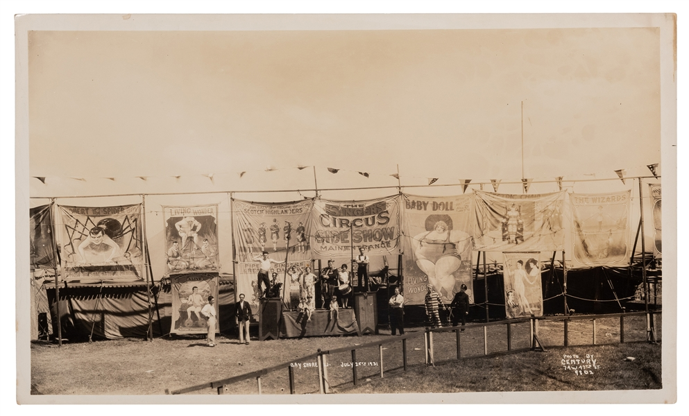 [The Singer's Circus Side Show]. Bay Shore, L.I. July 25, 1931.