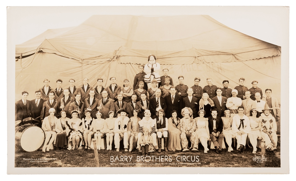Barry Brothers Circus. Rockville Center L.I., NY. New York: Century, 1932.