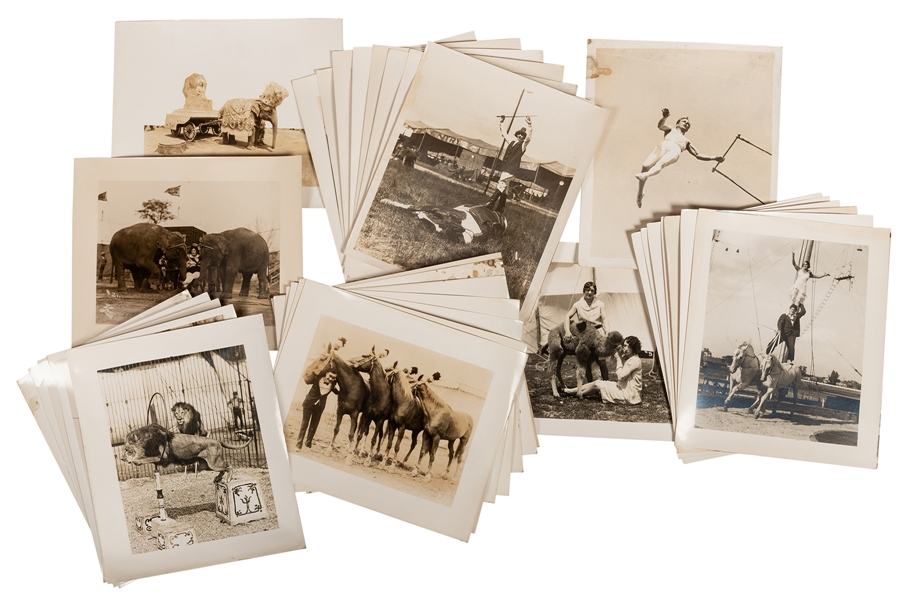 Over Forty H.A. Atwell Circus Photographs.