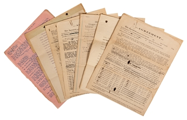 C.W. Parker Contract, Proposal, and Document Collection.