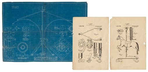 "Blueprint of the ""Fairy Swing""."