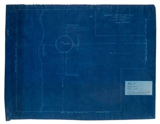 "Mangels, William F. Blueprint of a Plan View of ""The Teaser."""