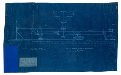 "Mangels, William F. Blueprint of ""The Teaser's"" Working Mechanical Parts."