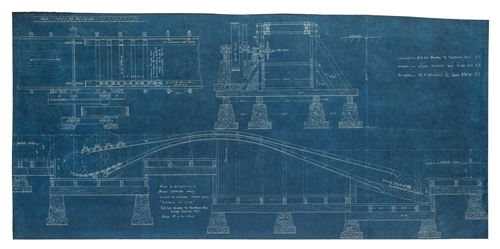 "Mangels, William F. Blueprint of ""Tunnel of Love"" Alterations."