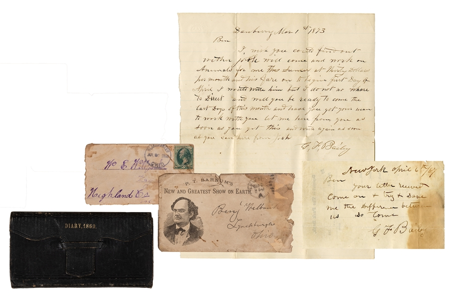 Autograph Letters Signed by George F. Bailey.