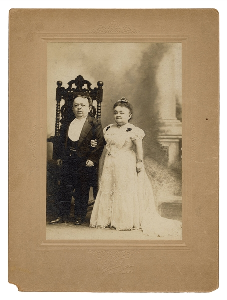 Photograph of Lavinia Warren with Her Second Husband, Count Magri.