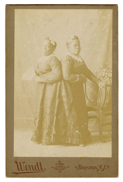 Millie–Christine. The Two-Headed Nightingale Cabinet Card Photograph.