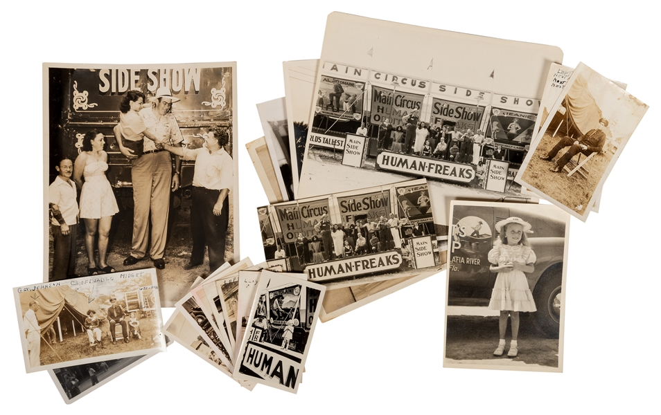 Group of Al Tomaini and Jeanne Sideshow Photographs. 19 pcs.