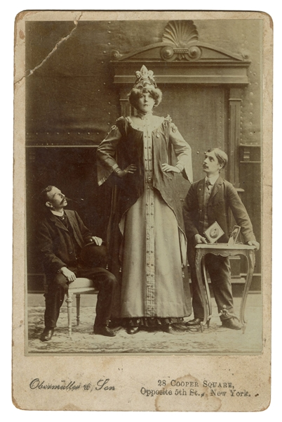 Cabinet Card Photograph of Rosa Wedsted, the Lady Giant.