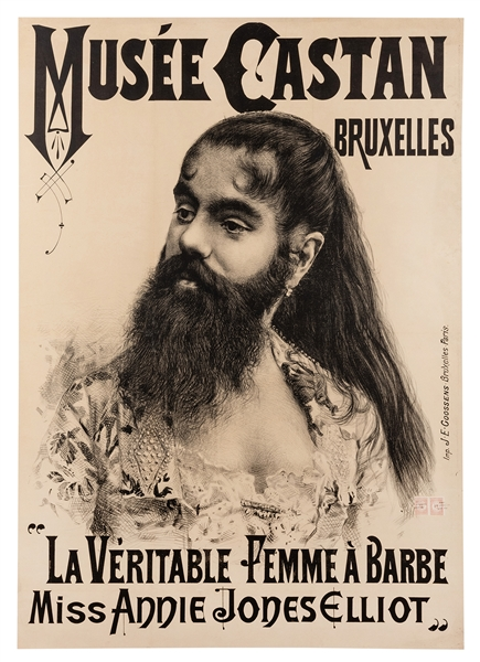La Veritable Femme Barbe. Annie Jones Elliot.