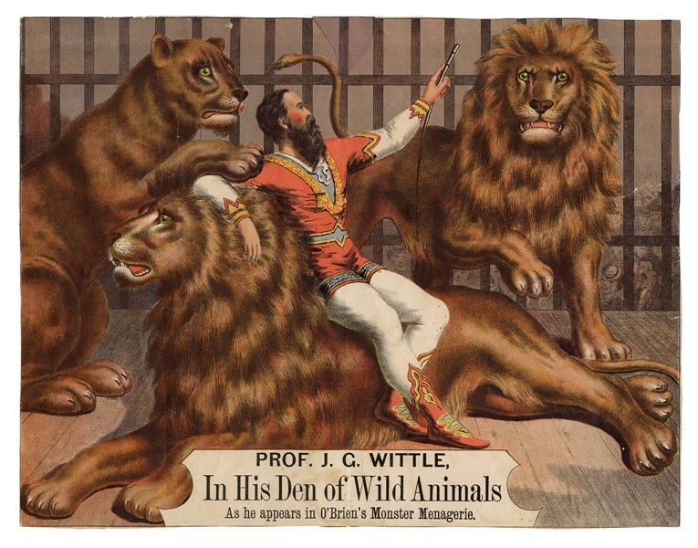 Prof. J.G. Wittle, In His Den of Wild Animals.
