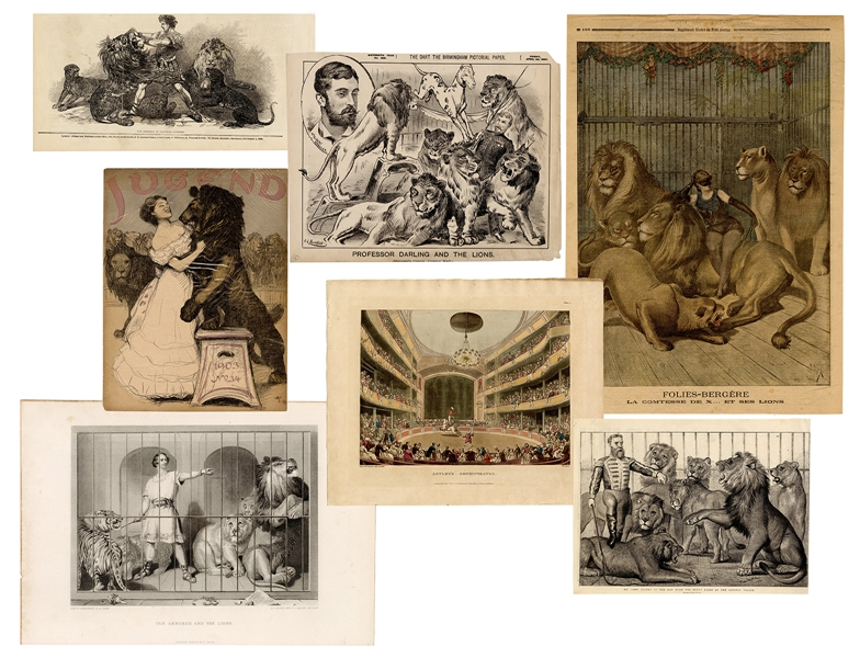 Group of Seven 19th Century Circus Prints.
