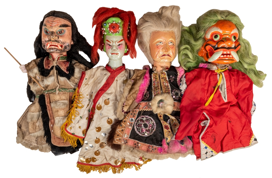 Collection of Vintage Chinese Opera Puppets