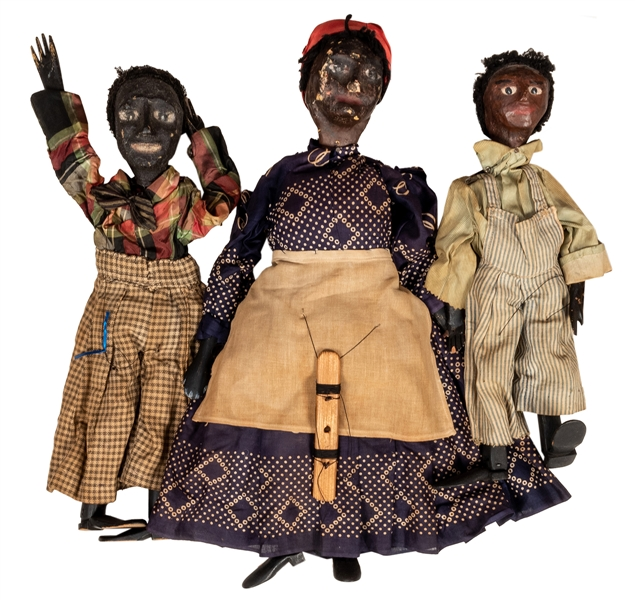 Group of Three Black Americana Marionettes.