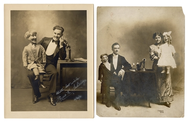 Group of 13 Photographs of Ventriloquists and Puppeteers.