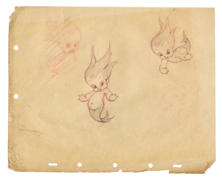 "Disney Silly Symphonies ""Merbabies"" Animation Drawing."