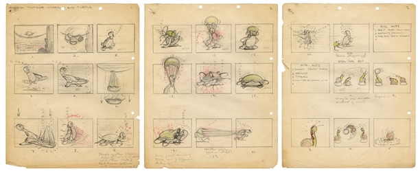 Disney Jellyfish Tightrope Walker and Turtle Animation Sequence.